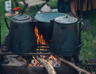 Cooking In Camp Fire