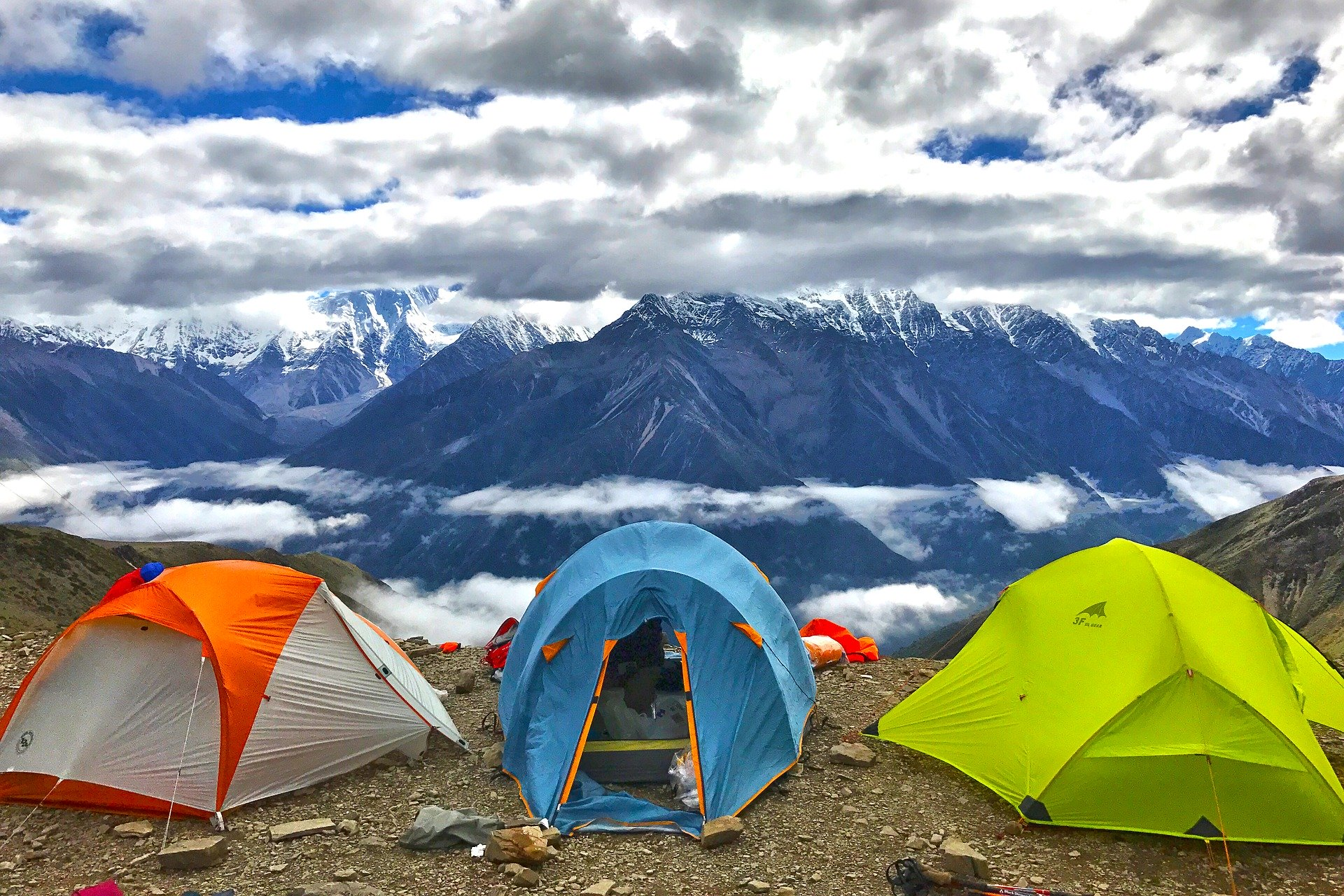 Outdoor Tenting in hilly areas