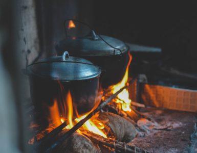 Camping Stoves burning
