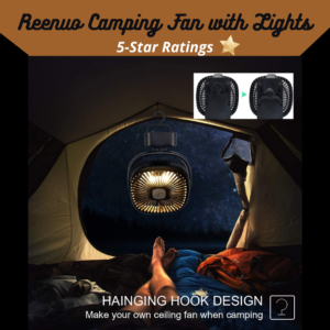 Reenuo Camping Fan with Lights