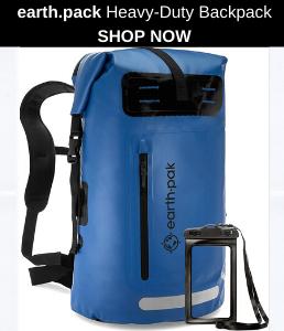 Earth Pak Waterproof Backpack With Waterproof Phone Case Included (3)