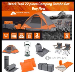 Ozark Trail 22 piece Camping Combo Set (2)